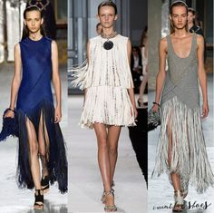 Our favorite look for #spring --> #fringe #fashion #fashiontrends #runway #style #springfashion #dress #flowers #bridal #brides #chanel #marni #miumiu