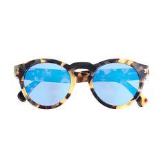 Illesteva - Leonard Mirrored Sunglasses in Tortoise/Blue.