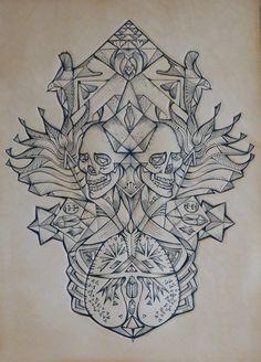 geometric flower tattoo - Google Search