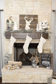 Christmas Mantels | Rustic Christmas Tree by Lillian Hope Designs