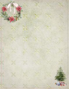 Christmas Scrapbook Paper, Vintage Christmas Cards, Christmas Gift Tags, Christmas Paper, Christmas 2019, Christmas Ideas, Stationary Printable Free, Christmas Letterhead, Gift Card Boxes