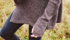 Womens Black Sheep Wool Wrap Sweater | Betabrand