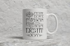 Saint Francis Prayer Mug