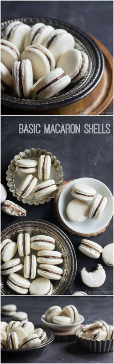 How to make basic macaron shells.  These really aren't as hard as you'd think! ~ bakingamoment.com