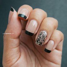 Edgy French Tip | Petite Peinture #nails #nailart #naildesign