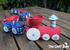 bricolage avec rouleau papier toilette et boite à oeufs bricolage pour petit garçon