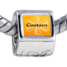 Pugster Bead Orange Daisy Custom European Charm Bead Fits Pandora Bracelet Pugster. $15.99. Weight (gram): 4.20. Metal: base metal. Size (mm): 7.60*9.10*10.10. Note: Snake chain is not included. Bead Size (mm): 7.60*9.10*10.10