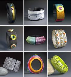 Book Polymer Clay Bracelets - inspiration