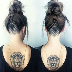 Simple X Design Undercut