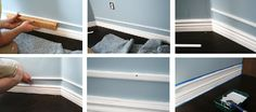 Bulk up your existing baseboard  for cheap by adding a piece of trim and painting the same color in between.