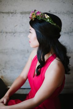 half up half down bridesmaid hairstyle for asian hair