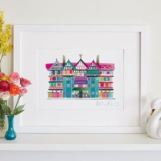 There's a little technicolor giveaway over on the blog right now 🌈🐳 Brighton illustrator @ilonadrewthis creates unique rainbow-fuelled prints of UK landmarks from the Brighton pavilion, Angel of the North to this one of Liberty in London and has one to give away. 👉🏻 Link in profile. Good luck people! #giveaway #illustration #rainbow #colour #art #affordableart #london #brighton #landmark