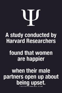 A study conducted hi Harvard researchers just study conducted a Harvard researchers town that women are happier. Applied Psychology, Psychology Says, Psychology Fun Facts, Psychology Quotes, Psycho Facts, Physiological Facts, Love Facts, Life Lessons, Wise Words