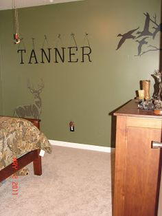 My sons redneck hunting bedroom with camo curtains for Redneck bedroom designs