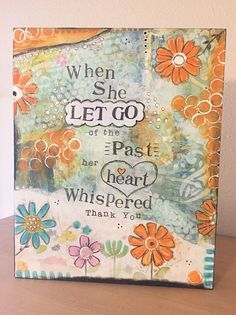 Inspirational, Positive, and Encouraging Art to Inspire a Sweeter Life. Mixed Media Art Print, Heart Whispered Thank You Mixed Media Journal, Mixed Media Collage, Mixed Media Canvas, Collage Art, Paper Collages, Doodle Art Posters, Art Tumblr, Art Nouveau, Design Floral