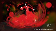 """Flamenco"" By Daniel Do - Digital Art 2013 www.facebook.com/Identimage www.identimage.com"
