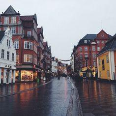 Nytorv facing Boulevarden. Aalborg, Denmark