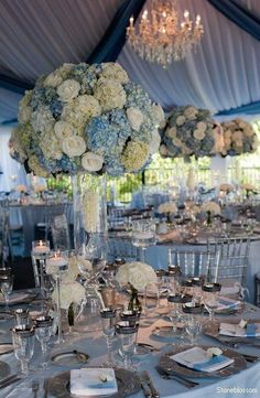 Blue Reception Wedding Flowers Decor Flower Centerpiece Arrangement Add Pic Source On Comment And We Will