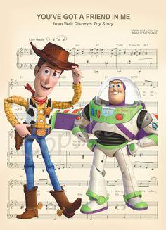 Impression dArt Toy Story partition de musique par AmourPrints