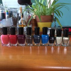"""#nailpolishhaul I have a weakness… #Zoya tempted me with one of their deals and I ended up with 9 new shades! Left to right: Wendy, LC, Tori, Emalia, Genvieve, Ling, Anais, Charlotte, Severine. I'll be doing swatches hopefully soon! Related posts:Zoya Blair nail polish (plus what I wore)Glittery Pinks - Essie """"Luxe Affects"""" Multidimensional Top … Continue reading Zoya Haul →"""
