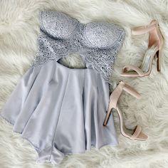 Ladies Night Out Crochet Romper #romper #crochet #lace #romance #gojane