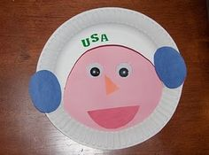 Paper plate astronaut craft for Space Themes. Charlotte's Clips