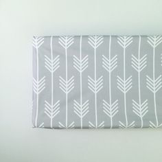 light gray arrows fitted changing pad cover // made-to-order