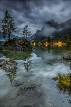 Low Clouds by ralderliefste.   Hintersee (Ramsau), Bavarian Alps, Germany