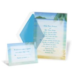 Wedding in Paradise Wedding Invitation | Michaels™ Custom Invites