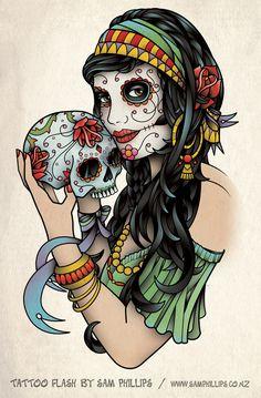 Frankly 09-BOXER-SUGAR SKULL-Mutande Dia de los Muertos CALAVERA