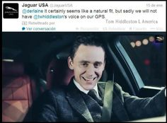 Think of the accidents, people. If Tom voiced a GPS system - response from Jaguar via Twitter