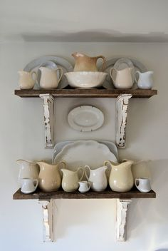 oh my how I love this! Shabby Love: Barn Wood Shelves