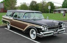 1957 Mercury Colony Park Station Wagon, with metal eyelids right out of Clockwork Orange...