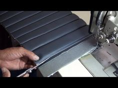AUTO UPHOLSTERY BASICS- Blind-Stitches Foamed Channels-TUTORIAL - YouTube