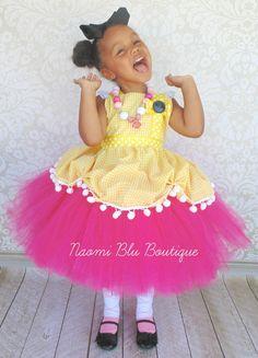 Lalaloopsy Crumbs Sugar Cookie Tutu Dress and Apron. by NaomiBlu, $68.00