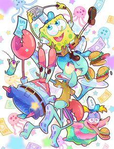 Show: Spongebob Squarepants Spongebob Friends, Spongebob Memes, Spongebob Tumblr, Cartoon Wallpaper Iphone, Cute Disney Wallpaper, Movie Wallpapers, Cute Cartoon Wallpapers, Spongebob Drawings, Spongebob Tattoo