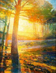 "Mark Gould ""Walking Home"" Landscape Artwork, Contemporary Landscape, Watercolor Landscape, Contemporary Paintings, Abstract Landscape, Abstract Art, Original Paintings, Original Art, Tree Art"