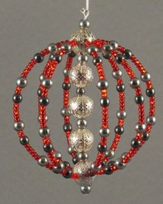 Beaded Ornament by beadedimaginations on Etsy