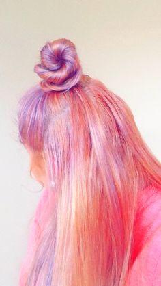 Colorful hair, unicorn hair, pink hair, purple hair, lavender hair, blond hair, hair dye, summer hair