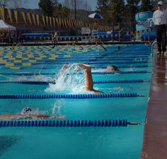 Feb 15. Whale tail sighting at the pool! # flipturn #swim #pleasantonseahawks