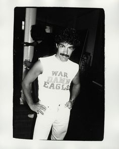 War Hol Eagle: Andy Warhol's photograph of John Oates in a War Damn Eagle T-shirt being auctioned by Christie's Auburn Football, Auburn Tigers, Famous Duos, John Oates, Daryl Hall, Hall & Oates, Auburn University, All Family, Andy Warhol