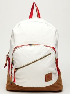 Red & White Backpack $46