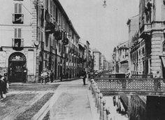 Naviglio, il ponte di Corso Italia | da Milàn l'era inscì