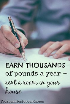 Make Extra Money - Rent a room in your house to a lodger. Click through to the website for more info. http://www.frompenniestopounds.com/rent-a-room-in-your-house-having-a-lodger/