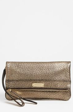 Burberry 'Adeline' Leather Clutch