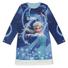 Girls Licensed Disney Frozen Elsa Fleece Nightdress