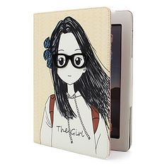 Protective Sweet Style PU Leather Case and Stand for iPad and iPad 2 (Girl) – US$ 23.49