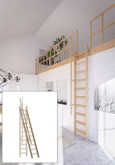 Wooden Staircase Folding Loft Space Saver Stairs Ladder Width Anti-slip for sale online Mezzanine Bedroom, Attic Loft, Attic Rooms, Attic Spaces, Bedroom Loft, Small Loft Spaces, Mezzanine Loft, Loft Staircase, House Stairs