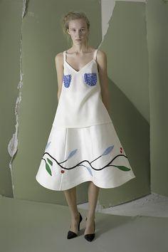crochet on fabric // Vika Gazinskaya Spring 2016 Ready-to-Wear Fashion Show