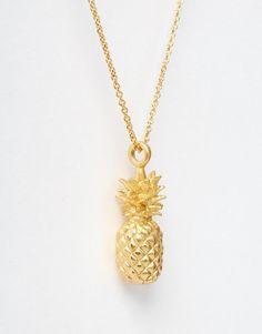 Bill Skinner | Bill Skinner Pineapple Pendant Necklace at ASOS